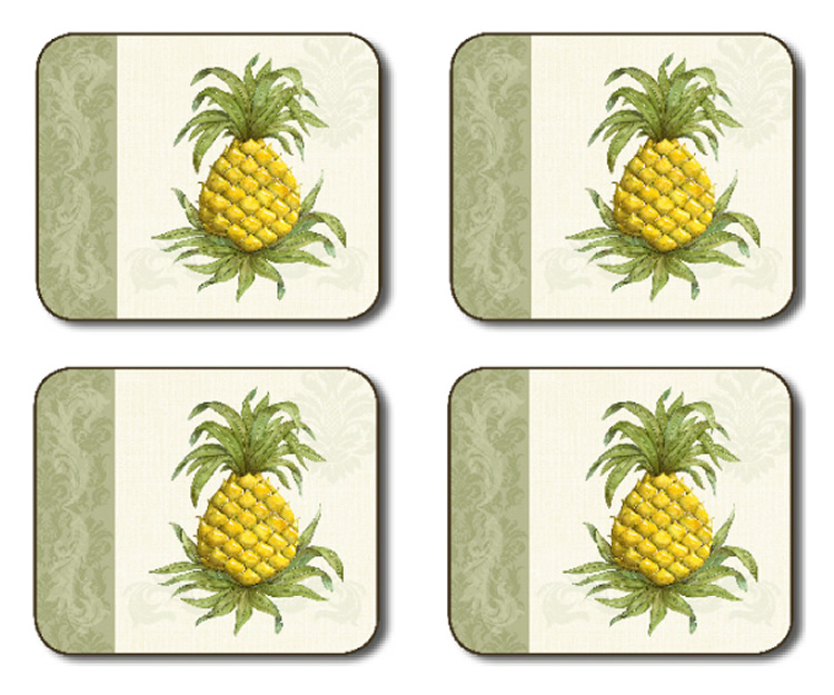Jason Placemats Pineapple Welcome Corkbacked Place Mats