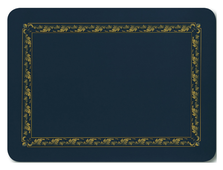 Jason Placemats Acanthus Navy Corkbacked Place Mats
