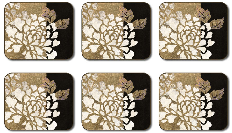 Jason Coasters Glamour Of Gold Cork Backed Placemats