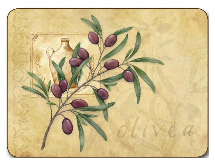 Jason Placemats Olive Branch Corkbacked Place Mats