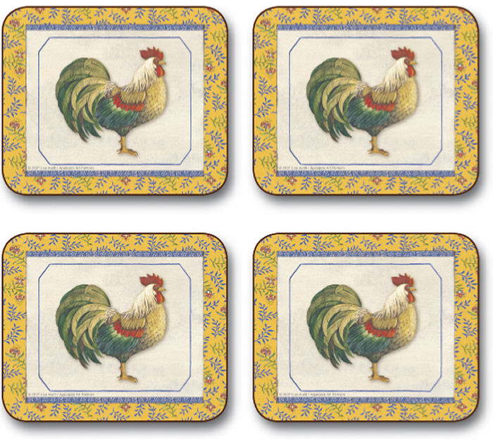 Jason Provencal Rooster Placemats - click image to close