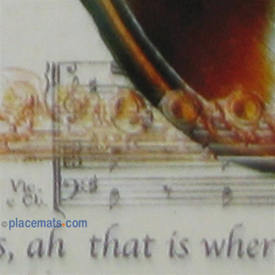 Lady Clare Music Placemats
