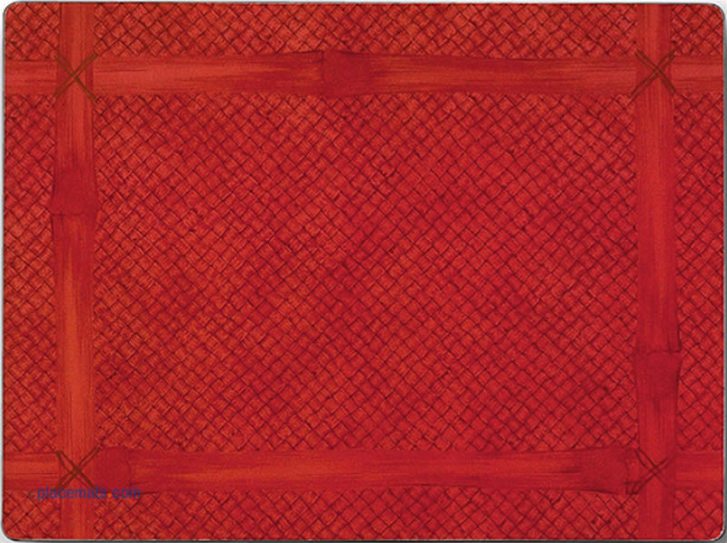 Placematscom Lady Clare Bamboo Red Placemats Brands