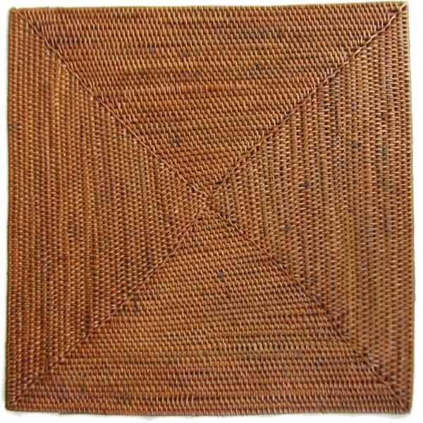 Natural Placemats Coasters 6 Square Materials