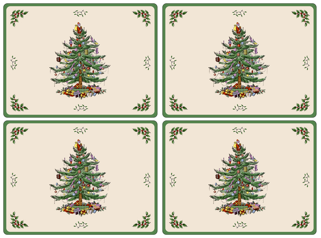 Spode Christmas Tree Coasters
