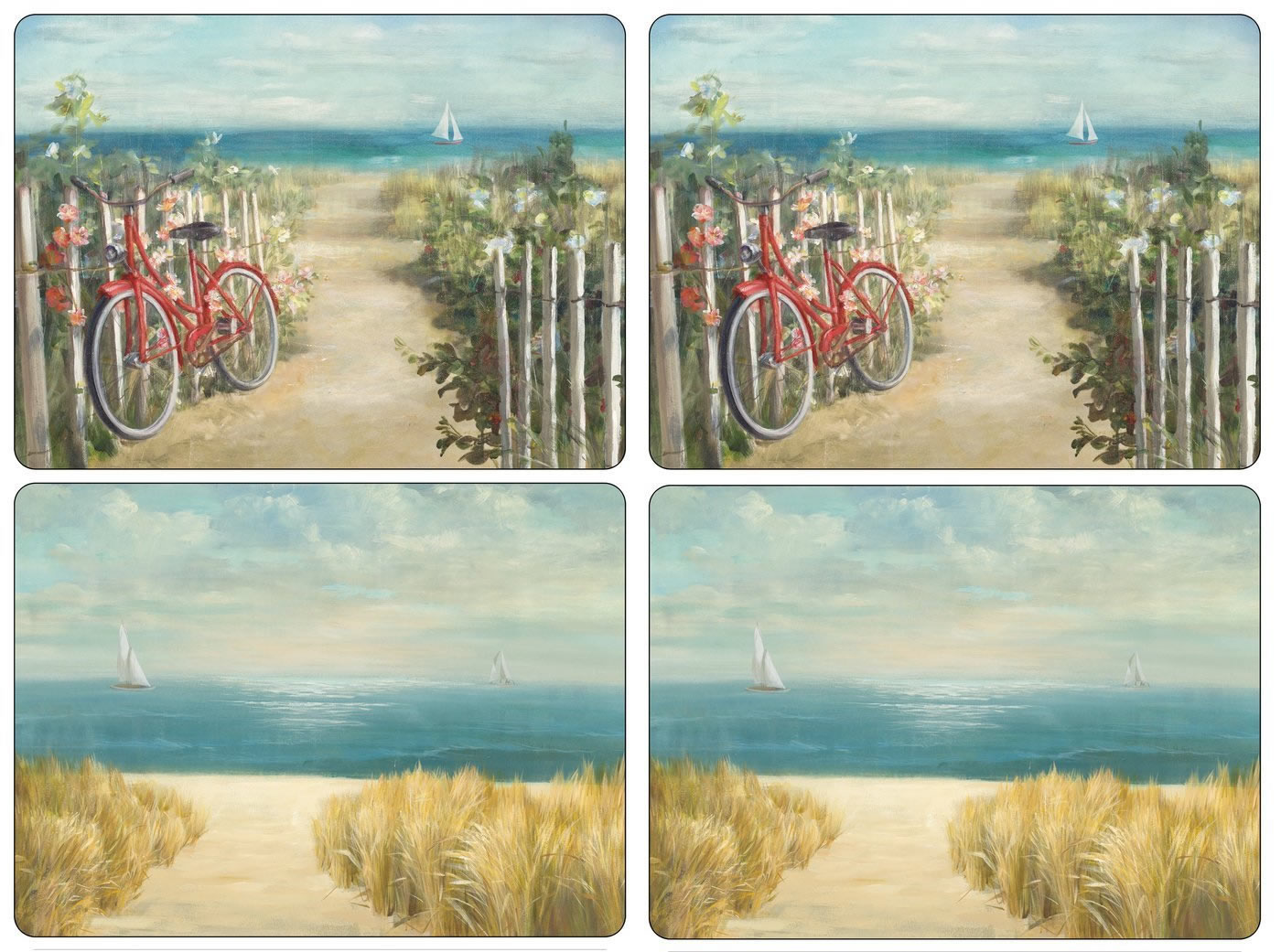 Pimpernel Placemats Summer Ride Cork Backed Place Mats