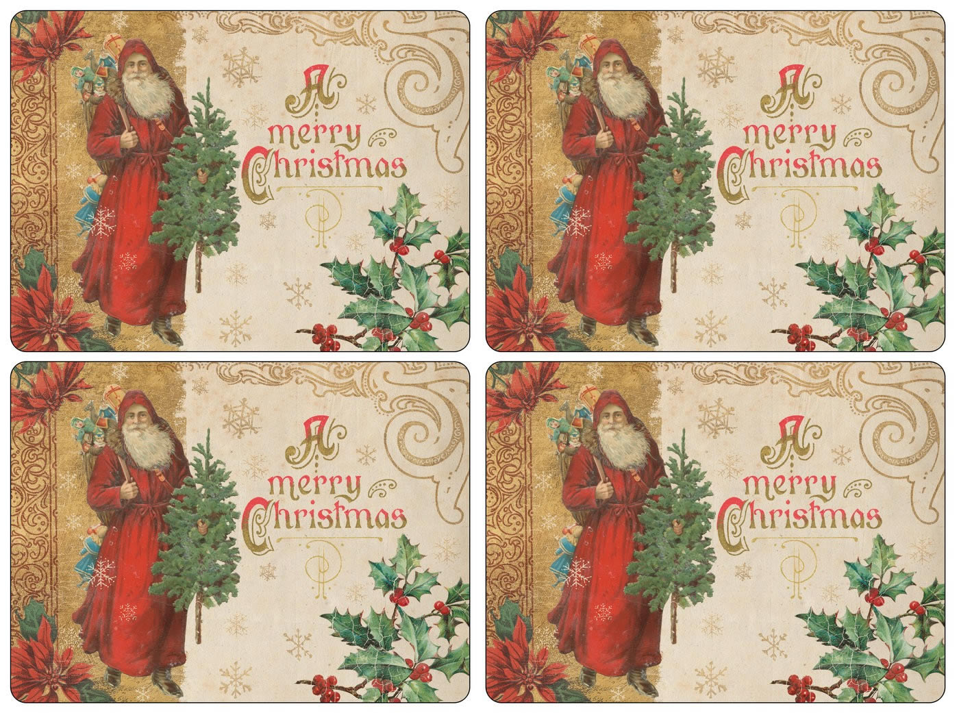 Pimpernel Placemats Victorian Christmas Cork Backed Mats