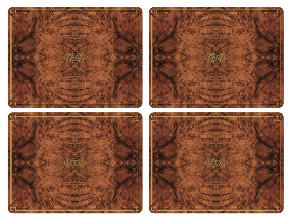 Pimpernel Placemats Walnut Burlap Cork Backed Place Mats