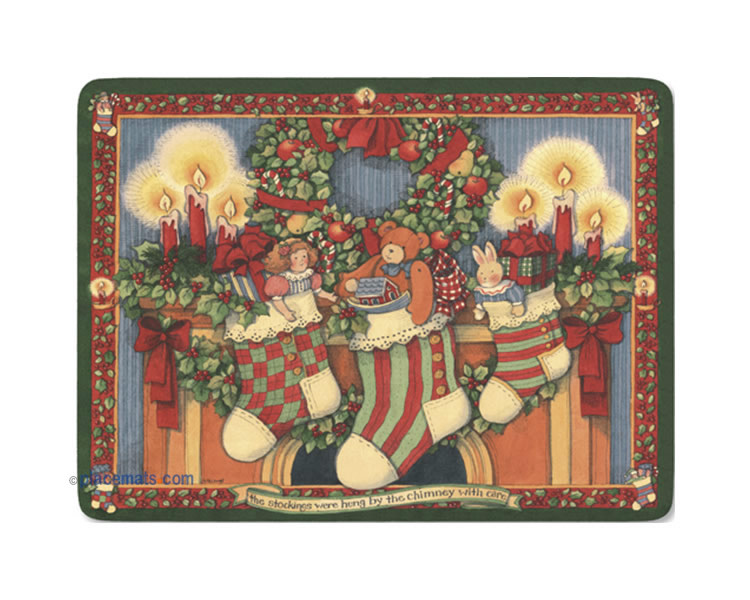 Pimpernel Placemats Christmas Story Cork Backed Place Mats