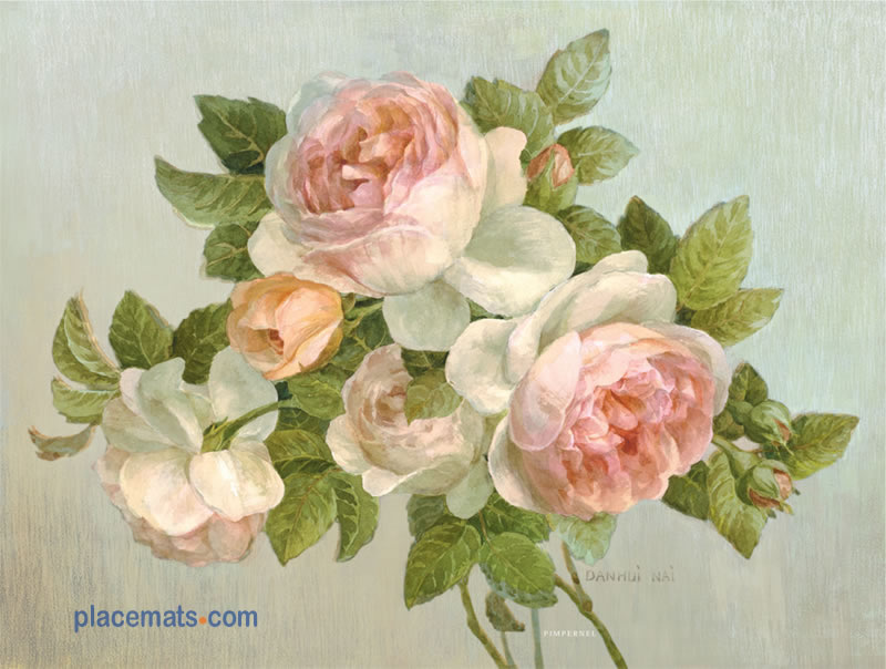 Pimpernel Placemats Antique Rose Cork Backed Place Mats