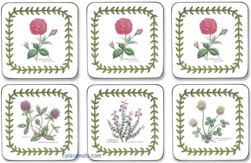 Pimpernel Coasters Irish Flowers Hardboard Placemats