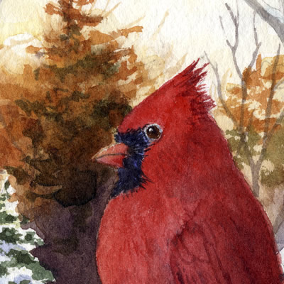 Winter Cardinal Tapestry Placemat