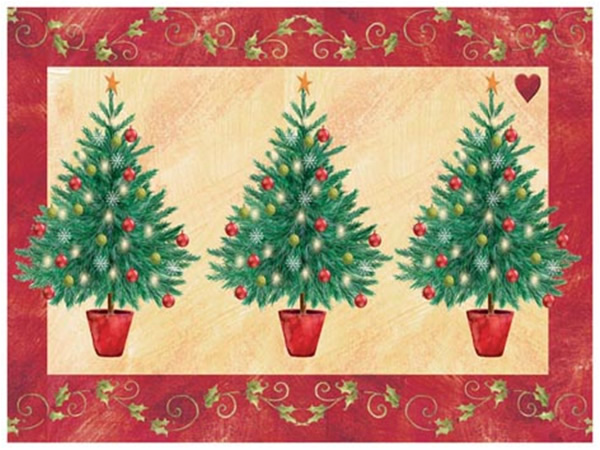 Pimpernel Placemats Christmas Topiary Place Mats