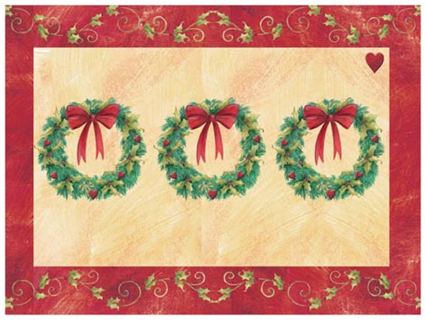 Pimpernel Christmas Topiary Placemats Materials Tablemats