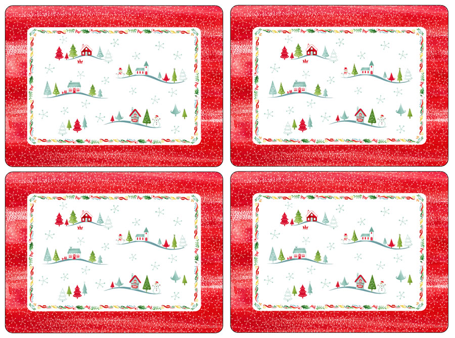 Pimpernel Placemats Christmas Wish Cork Backed Place Mats