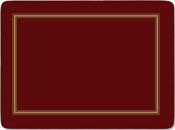 Pimpernel Placemats Classic Burgundy Corkbacked Place Mats