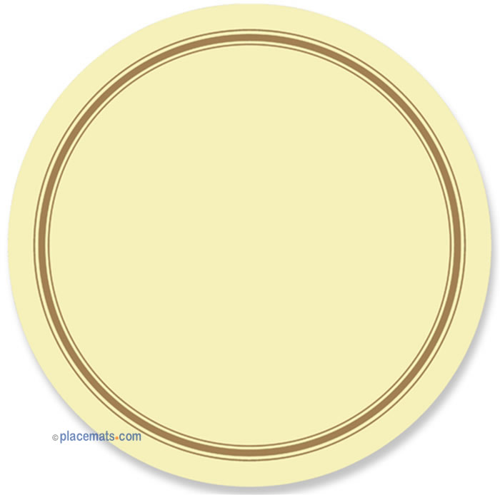 Placematscom Pimpernel Classic Cream Round Placemats Materials