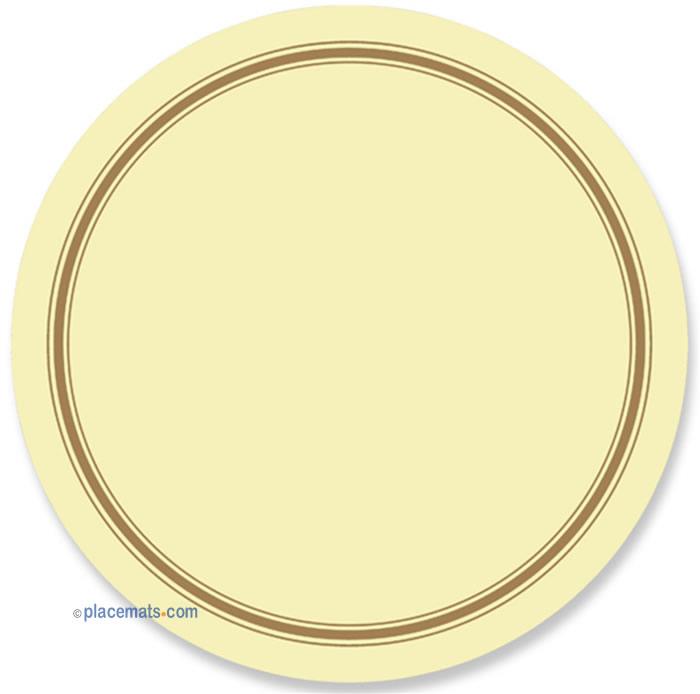 Placematscom Pimpernel Classic Cream Round Placemats