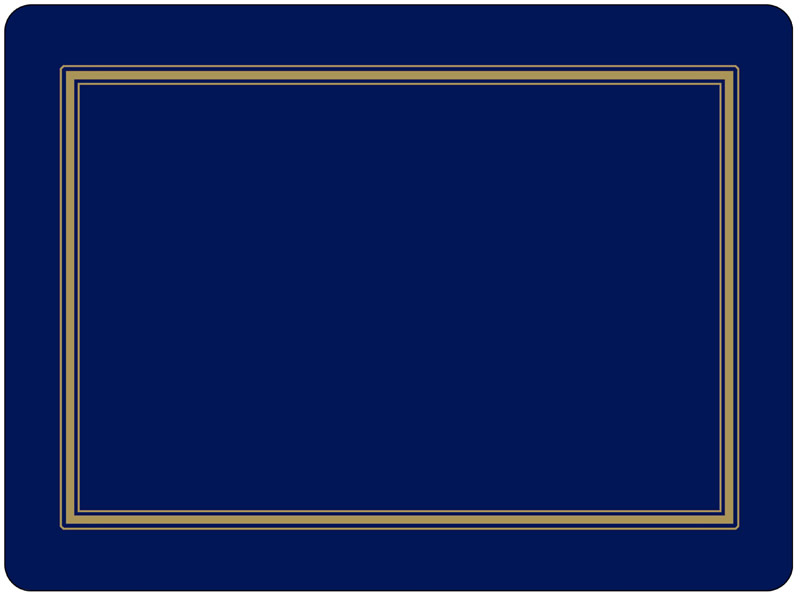 Pimpernel Placemats Classic Midnight Blue Place Mats