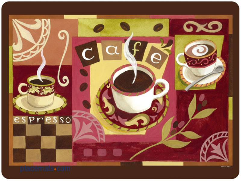 Placemats Com Pimpernel Coffee Time Placemats