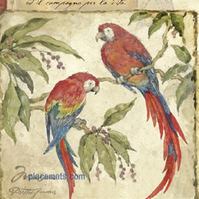 Placemats Com Pimpernel Exotic Birds Placemats