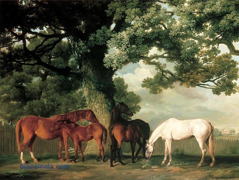 Placemats Com Pimpernel Grazing Horses Placemats