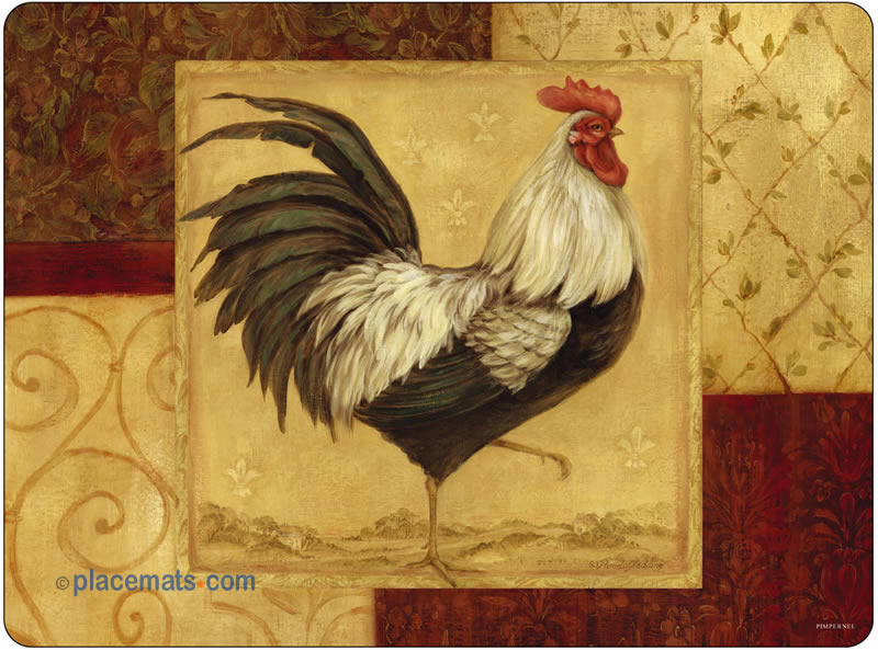 Placemats Com Pimpernel Loire Valley Rooster Placemats