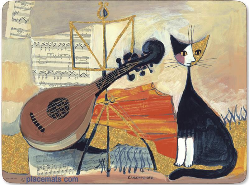Pimpernel musical cats placemats - Set de table rigide ...