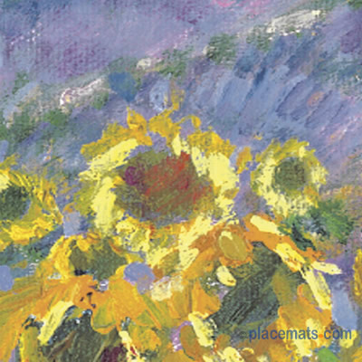Pimpernel Placemats Sunflower Scene Cork Backed Place Mats