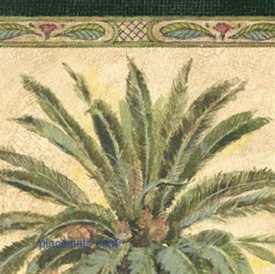 Placemats Com Pimpernel Tropical Palm Placemats Floral