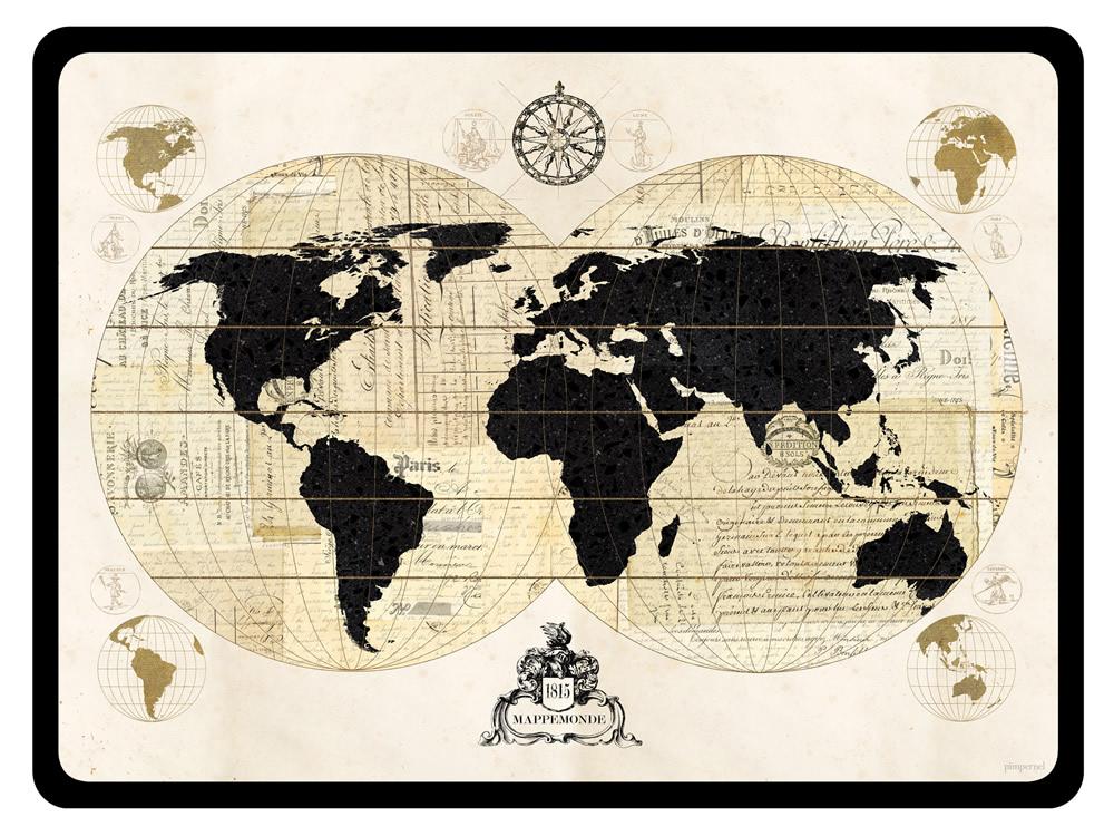 Pimpernel Placemats Vintage World Map Corkbacked Place Mats