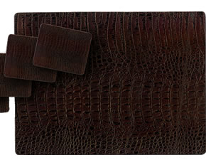 Lady Clare Brown Leather Placemats